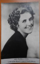 Miss Prunella Stack, Vintage Postcard, Leader Womens Health & Beauty, 1931